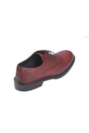 Rekirs Erkek Günlük Klasik Hakiki Deri Bordo Bağcıklı Ayakkabı 1