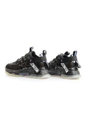Flower Siyah Şeffaf Tabanlı Sneaker 2