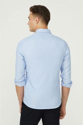 Avva Erkek Mavi Oxford Düğmeli Yaka Slim Fit Gömlek E002000 2