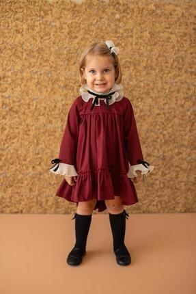 Picture of Bordo Kız Çocuk Elbise Lady