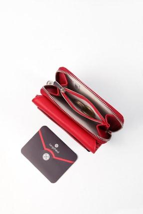 Cengiz Pakel Küçük Boy Kırmızı Kadın Cüzdan 2
