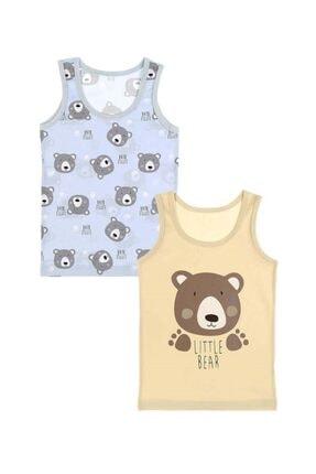 Picture of 2'li Little Bear Baskılı Erkek Çocuk Atlet - 7771776lt-2lı