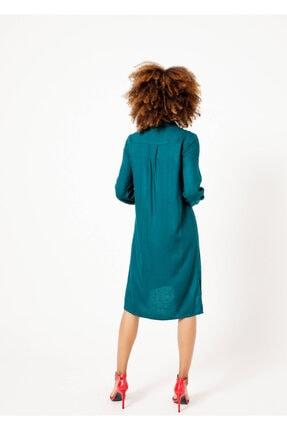 Adze Kadın Yeşil Düğmeli Cepli Tunik Yesıl 44 4