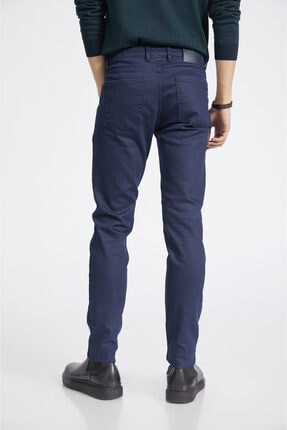 Avva Erkek Lacivert Slim Fit Jean Pantolon E003503 3