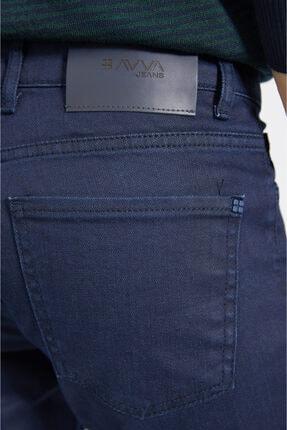 Avva Erkek Lacivert Slim Fit Jean Pantolon E003503 4