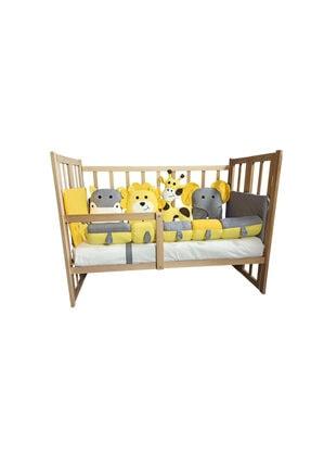 Rimini Baby Smartcrib Doğal Katlanır Beşik+ilk Arkadaşlarım Eğitici Uyku Seti Sarı-gri 0