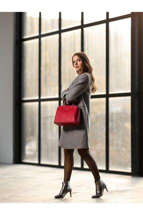 Cengiz Pakel Diana Kadın El Çantası 7188d-kırmızı 0