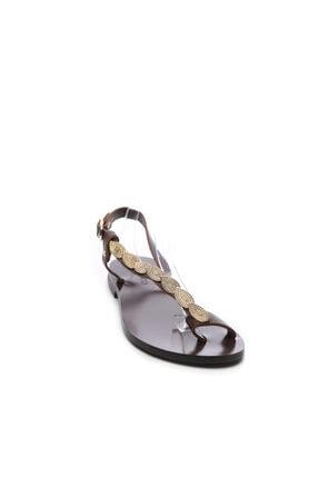 Kemal Tanca Kadın Derı Sandalet Sandalet 607 Rl114 Byn Snd 1