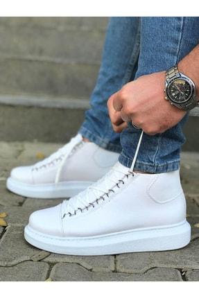 Trend Sultan Yüksek Taban Beyaz Erkek Ayakkabı 1