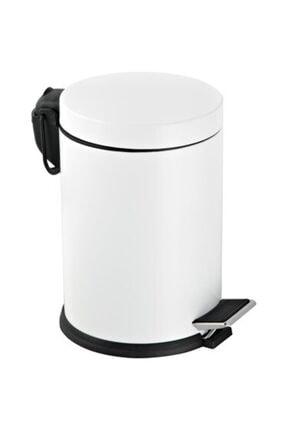 Berta Hijyen Berta 2'li Beyaz Banyo Seti Çöp Kovası Tuvalet Fırçası 2