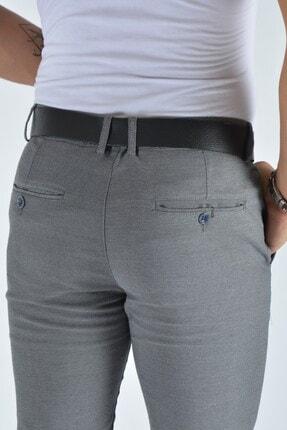 Terapi Men Erkek Slim Fit Keten Pantolon 20y-2200321 Gri 4