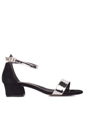 Fitbas 520033 771 Kadın Gümüş Topuklu Büyük & Küçük Numara Ayakkabı 0