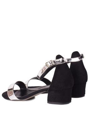 Fitbas 520033 771 Kadın Gümüş Topuklu Büyük & Küçük Numara Ayakkabı 2