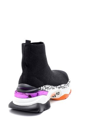 Derimod Kadın Kalın Renkli Tabanlı Çorap Bot 3