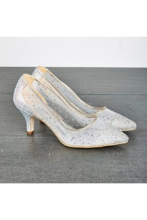 Altın Kadın Abıye Ayakkabı Altın 350315335-2