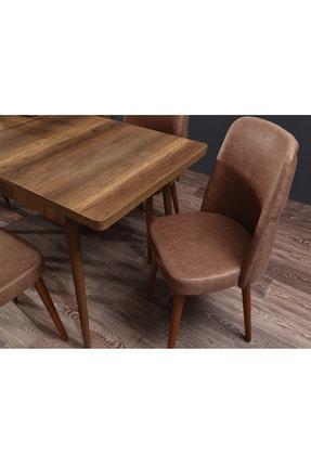 Ervo Venüs Premier Yemek Masa Takımı 6 Sandalyeli – Kahverengi 3