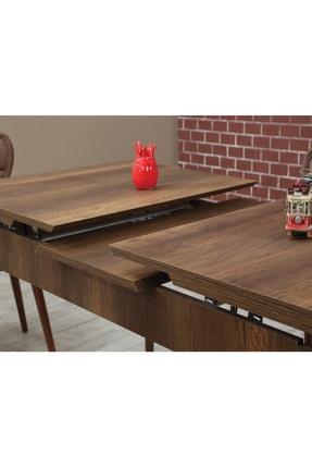 Ervo Venüs Premier Yemek Masa Takımı 6 Sandalyeli – Kahverengi 4