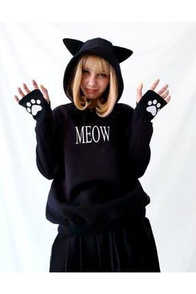 Carpe Meow Kedi Kulaklı Sweatshirt 1
