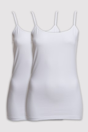 Pierre Cardin 1004 Kadın 2li Paket Askılı Atlet 0