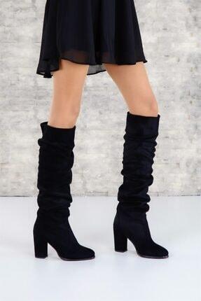 ShoeTek 1375 Kadın Çizme Siyah Süet 0
