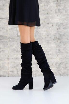 ShoeTek 1375 Kadın Çizme Siyah Süet 1