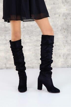 ShoeTek 1375 Kadın Çizme Siyah Süet 3