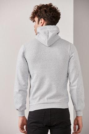 CATSPY Erkek Kapüşonlu Basic Örme Sweatshirt 3