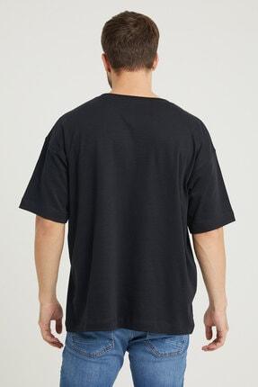 UNV COLLECTION Brooklyn Baskılı Erkek Oversizet-shirt 3