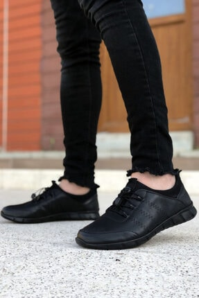 BIG KING Siyah Hakiki Deri Ortopedik Erkek Günlük Ayakkabı 0