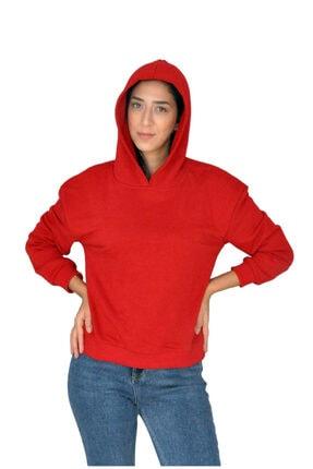 bck Kırmızı Kapüşonlu Sweatshirt 2