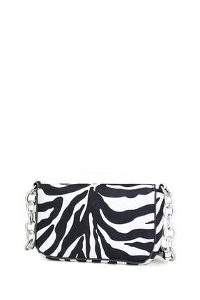 Housebags Kadın Zebra Desenli Zincir Detaylı Çapraz Askılı Çanta 196 2