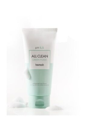 Heimish All Clean Green Foam - Ph 5,5 Değerinde Hassas Ciltlere Için Temizleyici 2