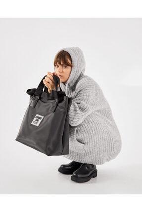 Shule Bags Patlı Kadın Omuz Shopper Çanta Vicky Siyah 0
