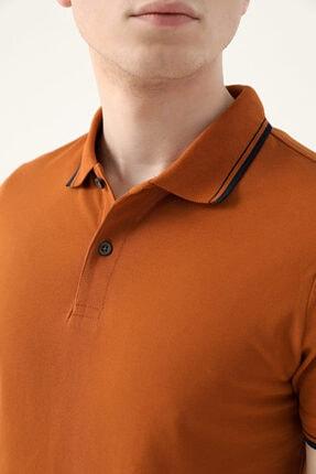 D'S Damat Ds Damat Slim Fit Tarçın Pike Dokulu T-shirt 2