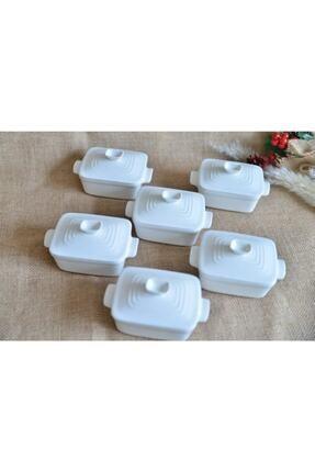 AROW 6 Lı Porselen Dikdörtgen Kapaklı Kase 1