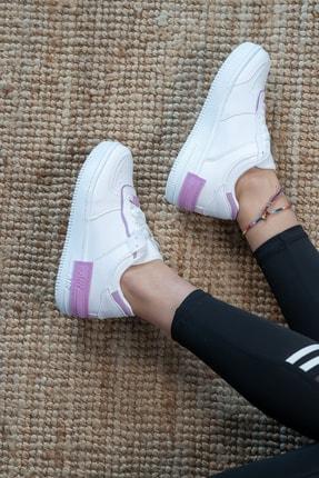 Bartrobel Kadın Beyaz Lila Sneaker Günlük Ayakkabı 3