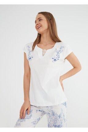 Suwen Kadın Mavi Alice Pijama Takımı 1