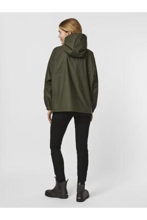Vero Moda Kadın Yeşil Kapüşonlu Yağmurluk 3