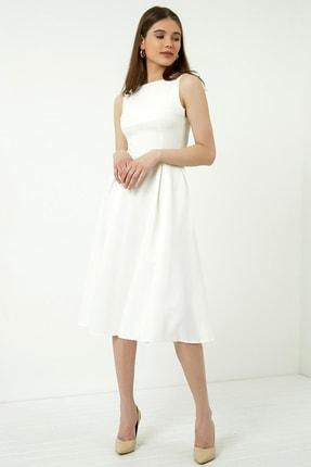 Vis a Vis Kadın Beyaz Midi Kolsuz Elbise 4