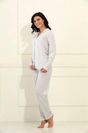 Etoile Yazlık Uzun Kol Bambu Pijama Takımı Büyük Beden S - 5xl Arası / 98034 1