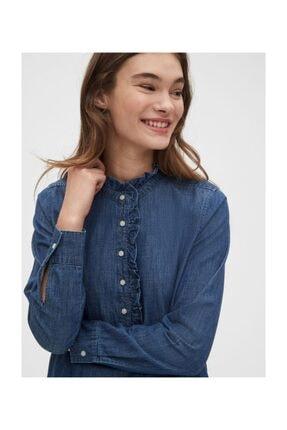 GAP Fırfır Detaylı Gömlek Elbise 3