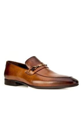 Cabani Kemer Detaylı Klasik Erkek Ayakkabı Taba Sanetta Deri 0