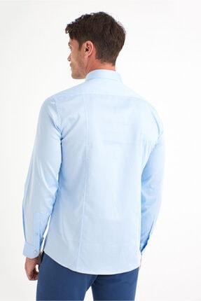 Avva Erkek Mavi Düz Klasik Yaka Slim Fit Gömlek B002217 4