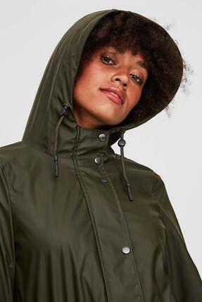 Vero Moda Kadın Haki Yağmurluk 10199174 1