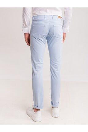Dufy Buz Mavisi Pamuk Likra Karışımlı Erkek Pantolon - Modern Fit 2