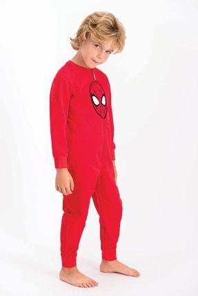 Spiderman Lisanslı Kırmızı Erkek Çocuk Tulum 1