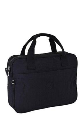 Smart Bags Krinkıl Kumaş Evrak Çantası Siyah 1