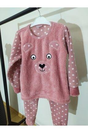 Irmak kids Anne Kız Polar Pijama Takım 3