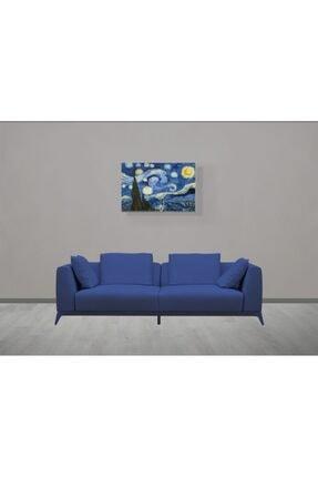 tabloonline Yıldızlı Gece Tablosu - Starry Night - Gece - Vincent Van Gogh - 105x70cm 1