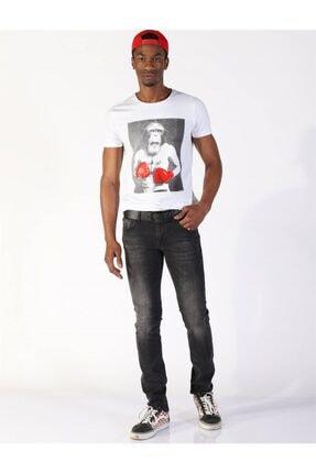 Erkek Düşük Bel Kot Pantolon Panama 468-02 Siyah resmi